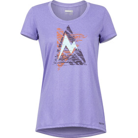 Marmot Post Time Lyhythihainen T-paita Naiset, paisley purple